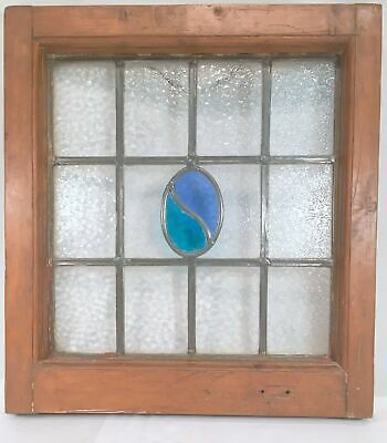Leaded Stained Glass Window Farmhouse Antique