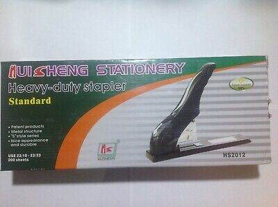 Brand new HUISHENG Heavy Duty 200 210 page capacity long reach stapler