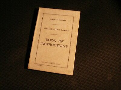 Victorian Railways Rolling Stock Branch Book of Instructions 1940