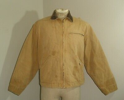 e8961fa6c5 Vintage Mens CARHARTT 6QLJ QUILT lined DETROIT Duck Jacket USA MADE 46