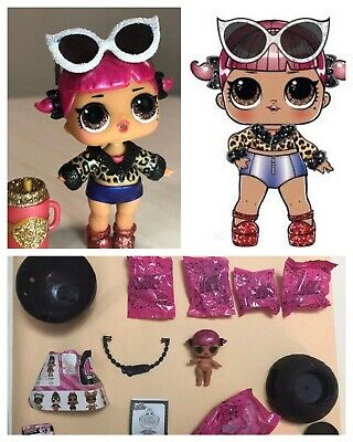 LOL Surprise! Cherry Glam Glitter Series 2 Doll Ball Authentic Complete L.O.L.