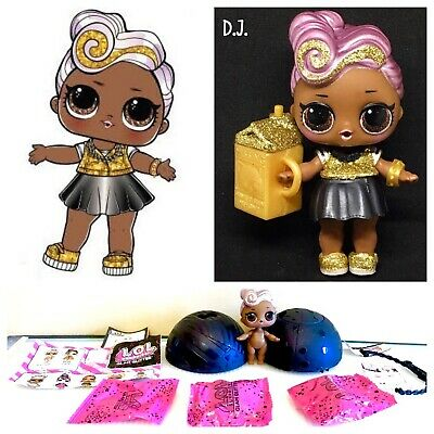 LOL Surprise! DJ D.J. Glam Glitter Series 2 Doll Ball Authentic Complete New