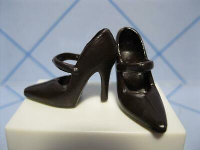 BARBIE DOLL Clothes: DARK BROWN MARY JANE DRESS-UP HIGH HEEL PUMPS Fashion SHOES