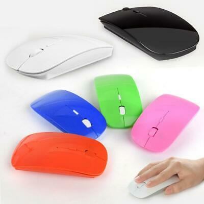 a77bacdd1ba Slim 2.4GHz Wireless Optical Mouse Mice + USB 2.0 Receiver for PC Laptop IIU