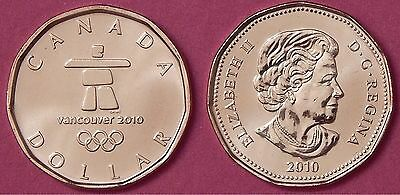 Brilliant Uncirculated 2010 Canada Lucky 1 Dollar From Mint's Roll