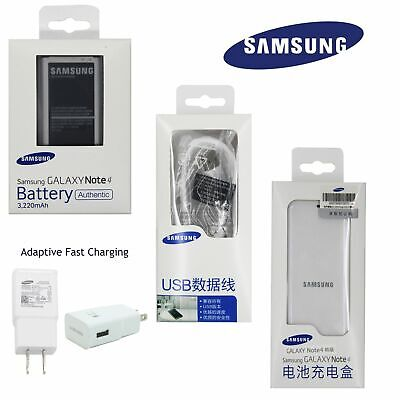 Battery&Charger&Cable for Genuine SAMSUNG Galaxy Note 4 IV EB-BN910BBE 3220mAh