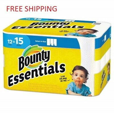 Bounty 75720 Essentials Select-A-Size Paper Towels 2-Ply, 78 Sheets/Roll, 12 Rol