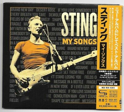 Sting - My Songs CD Japan Deluxe Edition with 1 Bonus Track Digipak 2019