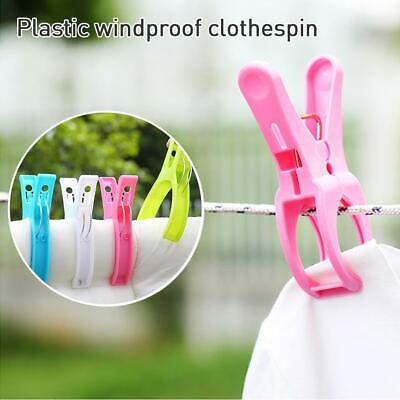 Large Beach Towel Clips Windproof Plastic Sun Bed Lounger Holder Clips 4 Pack
