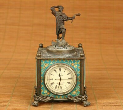 copy Antique Old copper Handmade Machinery Statue pocket watch art Noble gift