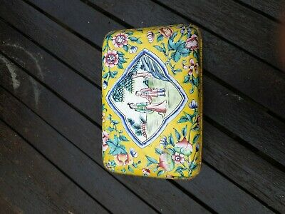 Antique Chinese Cloisonne box and cover
