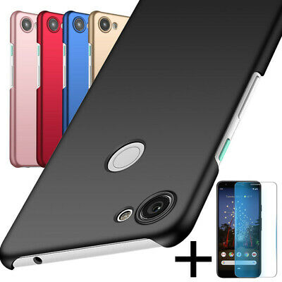 For Google Pixel 3A XL  Slim Protective Cover Case + Tempered Screen Protector