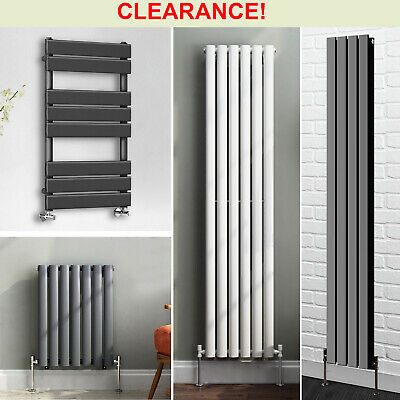 Traditional Cast Iron Flat Panel Oval Column Designer Radiator Heated Towel Rail