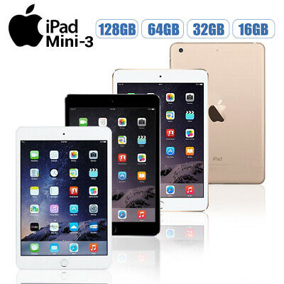 Apple iPad Mini3 16/64/128GB WiFi or 4G 7.9in All Colours-Various Grades Hot