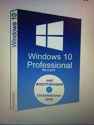 MS Microsoft Windows 10 Pro 64 Bit ISO-DVD  + Win 10 Pro Lizenz Key COA OEM