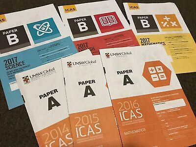 ICAS past papers and answers for Year 2, 3, 4,5 ,6, 7 low cost up to 52 papers