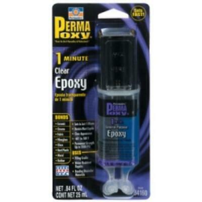 Permatex Inc 84160-CAN 1 Minute General Purpose Epoxy Clear, 0.84 Fluid Ounce