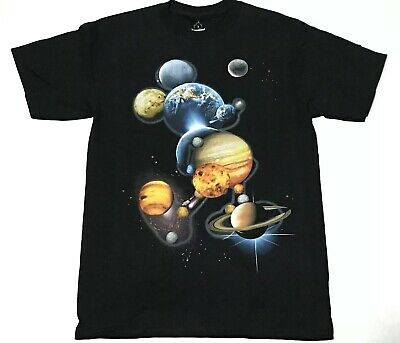 Disneyland Disney World Parks S Small Shirt Mickey Mouse Planets Space Galaxy