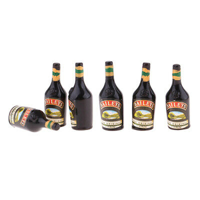 Pack of 6 Dollhouse Miniature Wine Bottles Set Drink Model for 1:12 scale