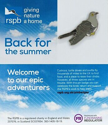 RSPB Pin Badge | cuckoo  Back for the summer #WingComing (01446)