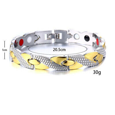UK Therapeutic Energy Healing Bracelet Stainless Steel Magnetic Therapy Bracelet