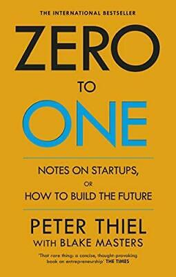 Zero to One by Blake Masters and Peter Thiel Paperback NEW Book