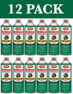 12 PACK Brakleen Brake Parts Cleaner Non-Chlorinated 19oz Cans New Free Shipping
