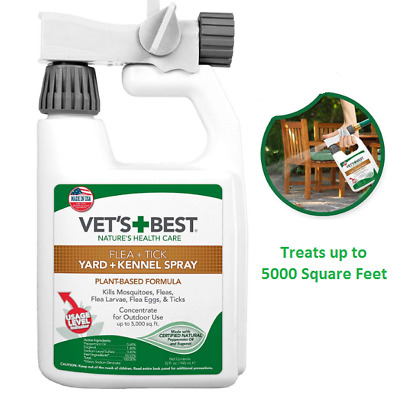 Flea, Tick & Mosquito Yard and Kennel Spray for Outdoor Dog Vet's Best 32 fl. oz