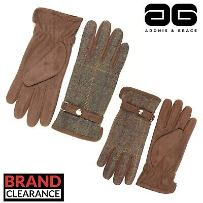Tweed Country Ladies Gloves Outdoor Womens Winter by A&G (2 Sizes)
