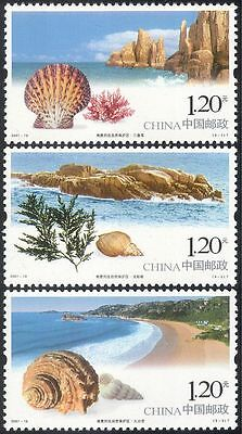 China 2007 Sea Shells/Nature Reserves/Conservation/Nature 3v set (n17965)