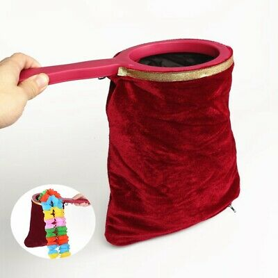Magician/'s Utility Prop Zipper Change Bag For Stage Magic Tricks Toy G