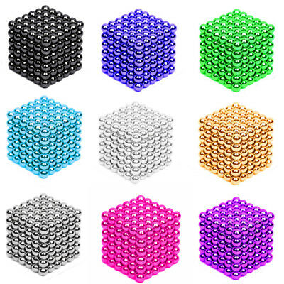 216Pcs 3/5mm Mini Magic Magnets Ball Neodymium Sphere Puzzle Cube Stress Relief