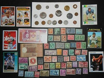 JUNK DRAWER LOT_OLD U.S.A.Coins, 1943-D Jefferson Nickel, Banknotes, 1907 Cent