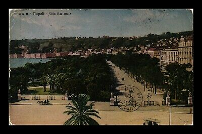 Dr Jim Stamps Villa National Napoli Italy View Cancel On Front Postcard 1911