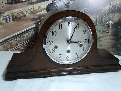 Napoleon Hat style westminster chiming clock in renovated  working condition