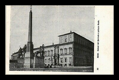 Dr Jim Stamps Monument Royal Palace Rome Italy Postcard