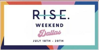 2 Tickets-General Admission Rise Dallas Weekend With Rachel Hollis $300 EACH. 😊