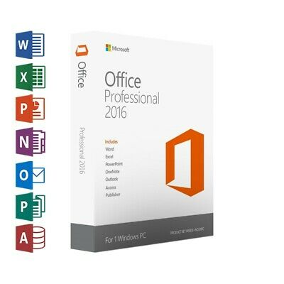Microsoft Office 2016 Professional Plus Product Key For 1 PC