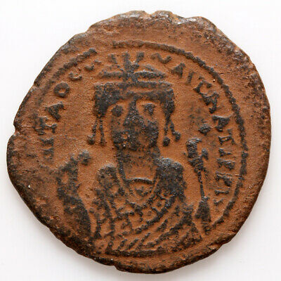Byzantine coin AE FOLLIS Tiberius II Constantine 578-582 Antioch Year 2