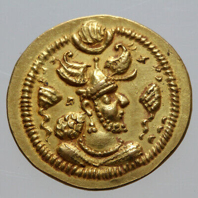 Uncertain Persyan Sasanian Gold Coin 450-700 Ad-Very Rare
