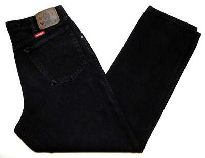 """* Wrangler * Mens Vintage Jeans 34""""W X 32""""L 97609CB Relaxed Tapered Black (927)"""