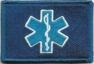 """2"""" x 3"""" Blue Medic Paramedic Patch VELCRO® BRAND Hook Side Only"""