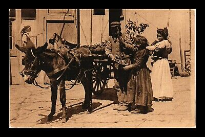 Dr Jim Stamps People Local Costume Napoli Italy Mule Postcard