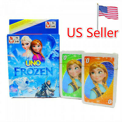 UNO Original Frozen Character Card Game Fast Free Shipping From US Seller