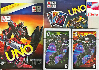UNO Transformers Character Card Game Fast Free Shipping From US Seller