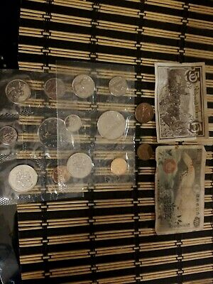 Vintage Lot Of Foreign Paper Money and Coins! Nice lot from around the globe!