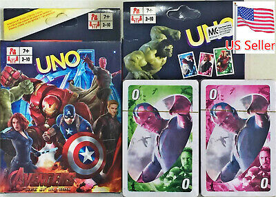 UNO Avengers Character Card Game Fast Free Shipping From US Seller