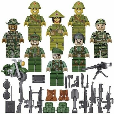 8PCS//Set Set Military World War 2 Military soldier Army Figures 2018