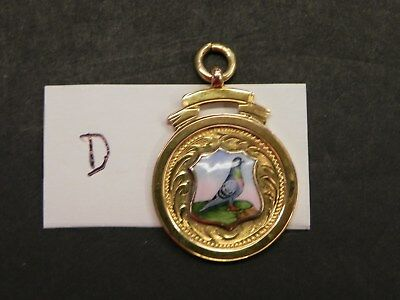 Pigeon Fob Medal  9Ct Gold And Enamel  Ref D