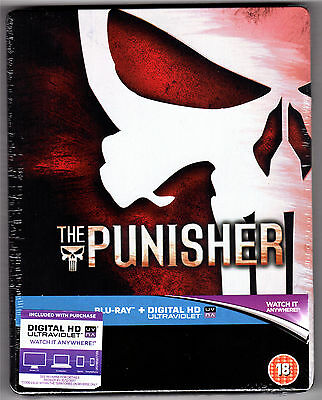 The Punisher (2004) Thomas Jane Uk Blu-Ray Steelbook New Sealed Sold Out Marvel